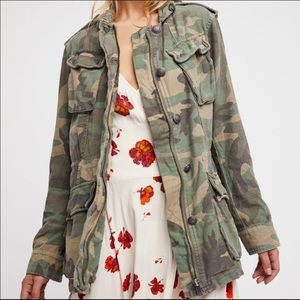 Free People Not your Brothers Camo Utility Jacket